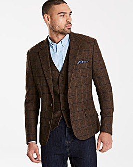 Jacamo Black Label Brown Tweed Blazer R