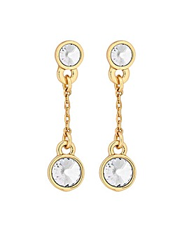 Jon Richard Gold Station Drop Earring