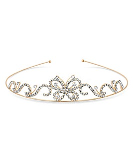 Jon Richard Rose Gold Butterfly Tiara