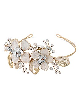 Jon Richard Gold Plated Leaf Headband