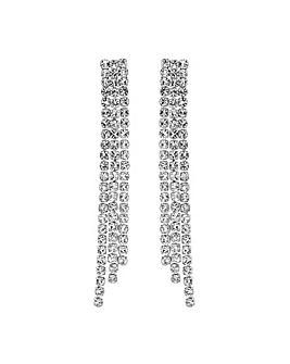 Jon Richard Silver Diamante Earring