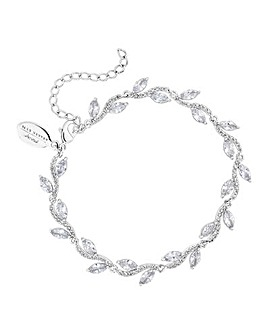 Jon Richard Silver Plated Leaf Bracelet
