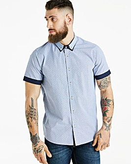 Jacamo Black Label Navy S/S Check R