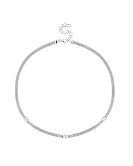 Simply Silver Double Row Necklace