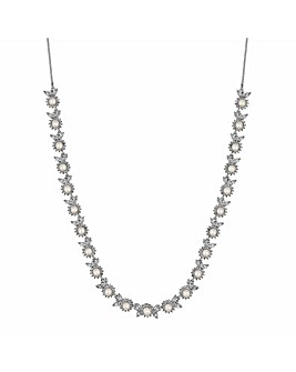 Alan HannahPearl Halo Crystal Necklace