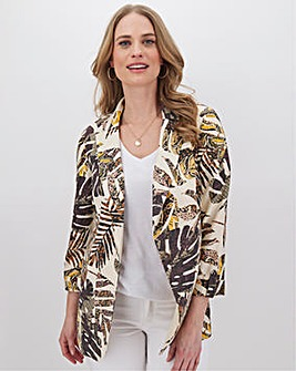 Linen Mix Printed Blazer