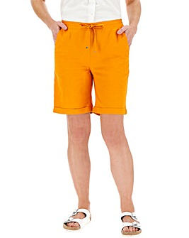 Easy Care Linen Mix Shorts