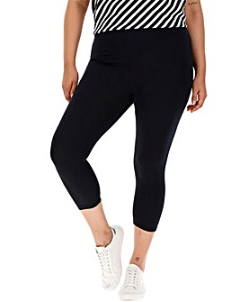 Deep Waist Crop Jersey Leggings