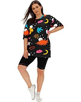 Lace Trim Cycling Shorts
