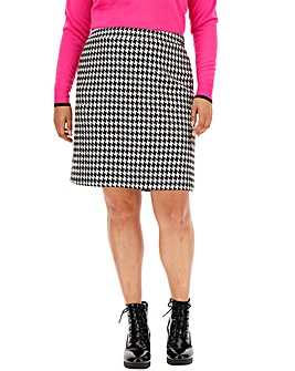 Houndstooth Check Mini Skirt