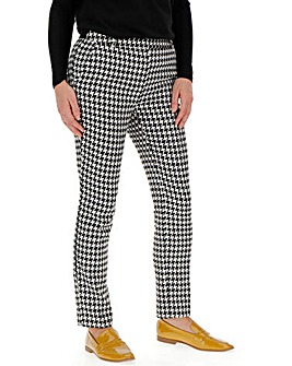 Houndstooth Tapered Leg Trousers