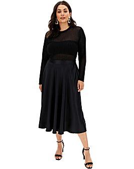 Satin Prom Midi Skirt