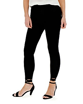 Lace Hem Jersey Leggings Regular