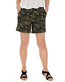 Cotton Rich Camo Print Chino Shorts