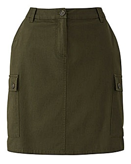 Pocket Detail Utility Skirt