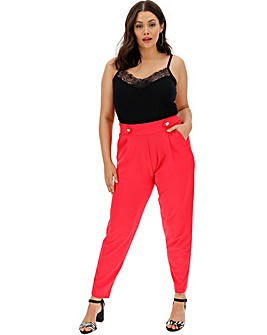 Tapered Soft Crepe Jersey Trousers