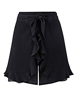 Crinkle Wrap Frill Shorts