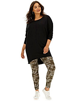 Floral Print Jersey Leggings Regular