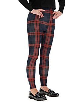 Check Print Jersey Leggings Regular