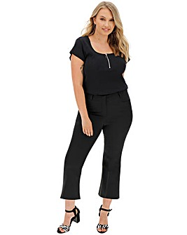 Everyday 'Molly' Crop Flare Trousers Regular