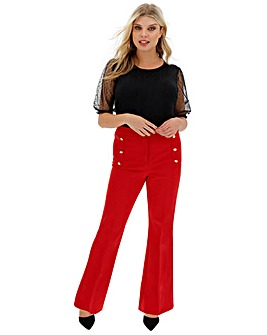 Everyday High Waist Wide Leg Trousers