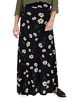 Floral Jersey Maxi Skirt