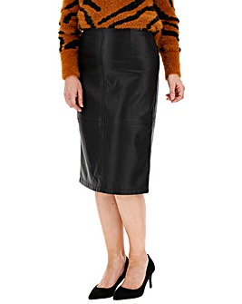 PU Midi Pencil Skirt