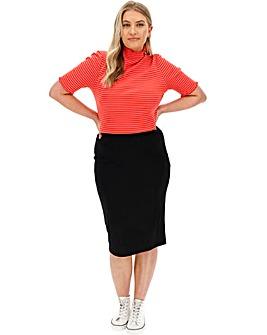 Ultimate Shaper Midi Tube Skirt