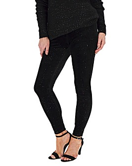 Glitter Velour Stretch Leggings