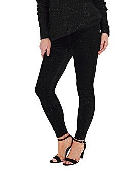Glitter Velour Stretch Leggings