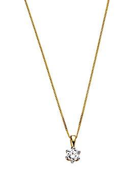 9 Carat Gold 1/2 Carat Diamond Pendant