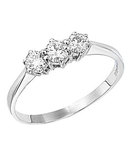 1/2 Carat Moissanite Trilogy Ring
