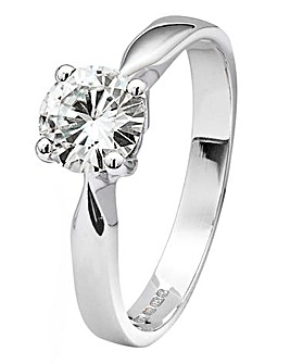 Moissanite Gold 1 Carat Solitaire Ring