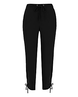 Ruched Side Leg Jogger Trousers Regular