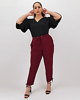 Ruched Side Leg Jogger Trousers