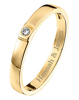 Personalised 9 Carat Gold Diamond Ring