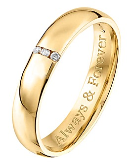 Personalised 9 Carat Gold Ladies Ring