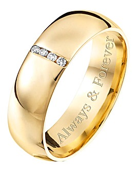 Personalised 9 Carat Gold Gents Ring