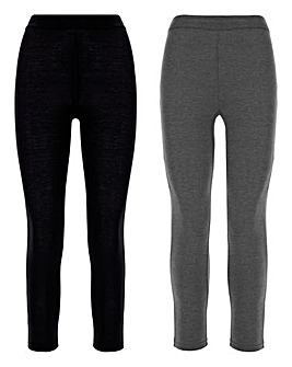 2 Pack Essential Jersey Leggings Regular
