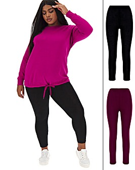 2 Pack Essential Jersey Leggings