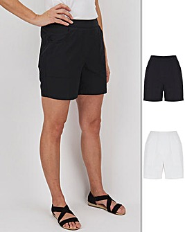 2 Pack Woven Cotton Shorts