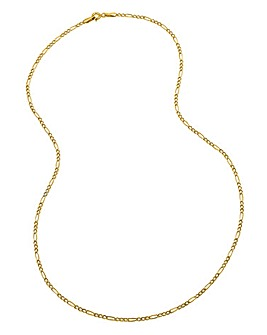 9 Carat Gold 18inch Figaro Chain