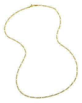 9 Carat Gold 20inch Figaro Chain