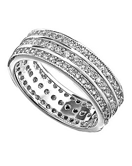 Cubic Zirconia Eternity Band Ring