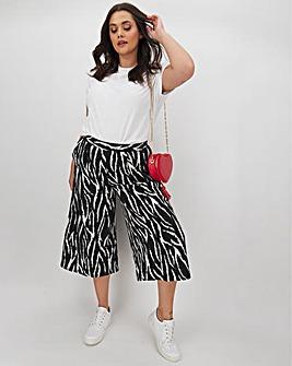 Zebra Print Crepe Culottes