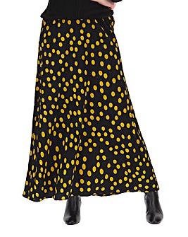 Spot Crepe Maxi Skirt