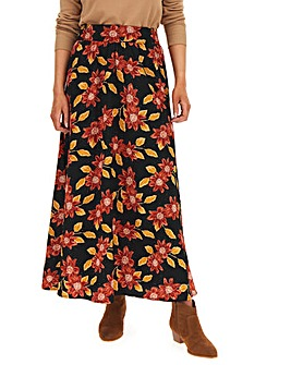 Floral Crepe Maxi Skirt