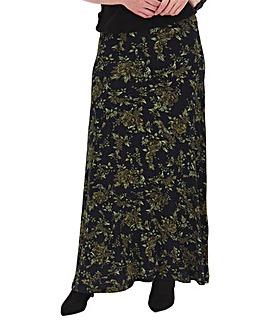 Floral Print Jersey Maxi Skirt