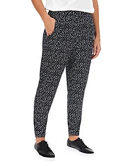 Mono Print Tapered Trousers Regular