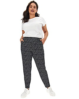 Mono Print Tapered Trousers Regular